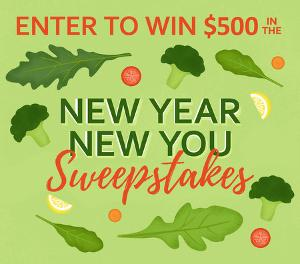 $500 in the Thanksgiving.com New Year, New You Sweepstakes