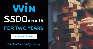 $500/Month for Two Years Basic Income Giveaway