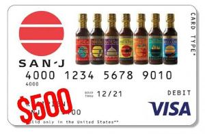 $500 Visa Card + San-J Family of Products
