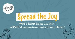 $500 VOUCHER + $500 DONATION TO A CHARITY