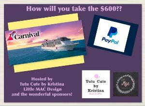 Contest 600 Carnival Cruise Gift Card North America Or 600 Paypal Cash