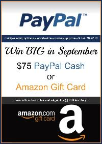 $75 PayPal Cash OR Amazon Gift Card