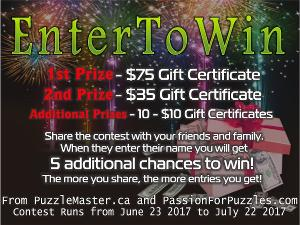 $75 PuzzleMaster.ca Gift Certifcate Giveaway