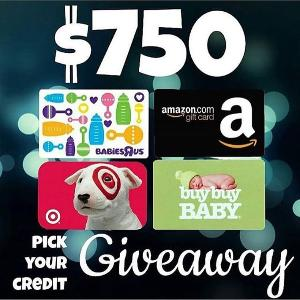 Contest: *** Win a $750 Amazon, Target, Babies R Us or Buy