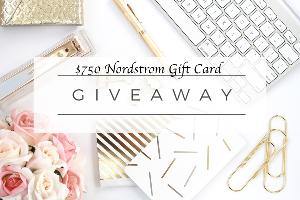 $750 GIVEAWAY TO NORDSTROM