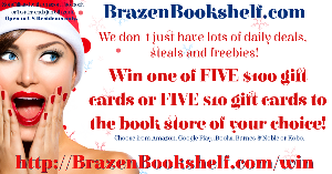 .FIVE lucky folk will receive a $100 gift card for their book store of choice.  A further FIVE will receive a $10 gift card for their book store of choice.