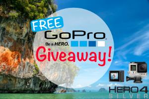 """Free GoPro Hero 4 Silver and Accessorie"