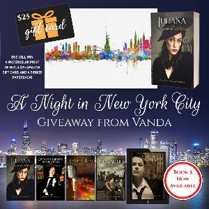 One lucky reader will win a watercolor print of NYC, a $25 Amazon gift card, and a signed paperback!