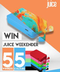 """Win a juice weekender power bank"