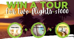 [Win] Tour For 2 + Flights for 2 + $1000 cash