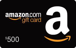 1 - $500 Amazon Gift Card and 5 - $100 Amazon Gift Cards