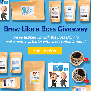 1 Grand Prize ($500+ value): The Boss Baby 2-Movie collection on Blu-ray™, 12 month Bean Box coffee subscription, 2 Boss Baby Coffee Blends, Bean Box Tea Tasting Box & $150 Bean Box Gift Certificate! 5 Second Place Winners ($100+ value each)!