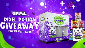 1 Lucky Winner Will Receive:  1-Year Supply of G FUEL's NEWEST flavor - Pixel Potion! ;4 Runners-Up Will Receive:  1 x Pixel Potion Collectors Box!!