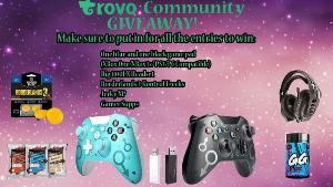 1 lucky winner will receive 2 Xbox/PC controllers with adapters, Rigg 800XL headset for xbox or pc, 2 tubs of your favorite gamersupps, 1 3 pack of jerkyxp, and a set of Borderlands 3 Kontroll Freek for controller!