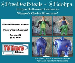 1 Winner will receive choice of costume from TVStoreOnline.com