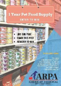 1 Year Pet Food Giveaway