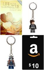10 Amazon gift card, digital copy of Life in the No-Dating Zone and LEGO keychain (choice between two designs) from Patricia B. Tighe