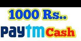 1000 Rs PayTm Give Away