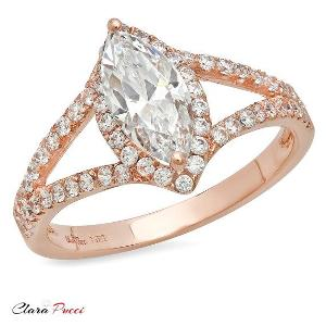 14k Rose Gold Oval Diamond Ring ($169)