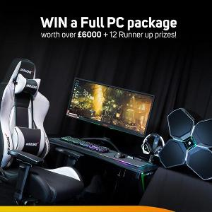 1st Prize: Full watercooled PC setup worth over £6000 including monitor, peripherals, desk & chair!