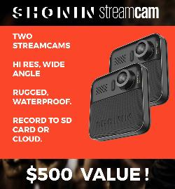 2 Shonin Streamcam Wearable Cameras