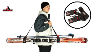 2 Ski & Pole Carry Straps