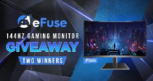 2 WINNERS WILL WIN A PIXIO 144HZ GAMING MONITOR EACH!!
