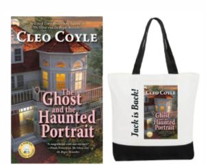 2 Winners Win a Signed Print Copy of THE GHOST AND THE HAUNTED PORTRAIT and a Haunted Bookshop Canvas Tote Bag (U.S. ONLY)