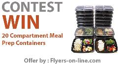 20 Compartment Meal Prep Containers