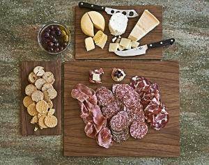 3 Epicurean Walnut Display Boards