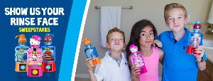 3 kids holding mouthwash