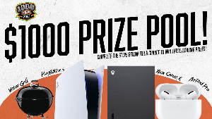 3 lucky winners will receive some amazing prices, including a PS5 or XBOX Series X, a Yeti Cooler, or AirPods