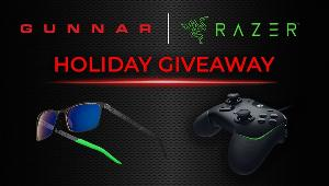3 WINNERS: The GUNNAR x Razer Holiday Prize Pack includes: 1 x FPS Razer Edition Glasses & 1 x Razer Wolverine V2 Gaming Controller!!