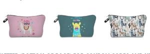 3 Winners will win a Llama cosmetic organizer bag!