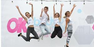 4 people jumping