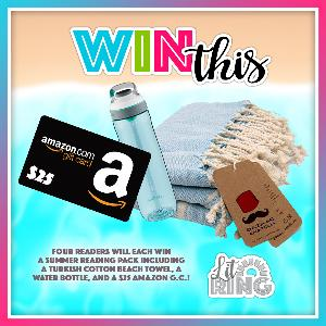 4 readers will win a water bottle, a Turkish cotton towel, and a $25 Amazon gift card!