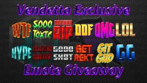 4 Winners-Each winner will receive 5 custom text emotes to use in their stream!