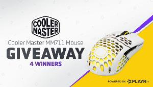 4 Winners will win a  Cooler Master MM711 RGB Gaming Mouse each!