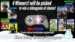 4 Winners will win a Video Game of your choice!