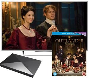 40 in TV, Blu-ray player & Outlander Season 2 Giveaway!