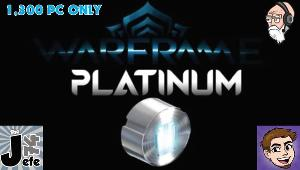 5 platinum prizes with the grand prize being 1000 Warframe Platinum.