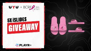 5 Winners will get a pair of the limited edition UYU x Breast Cancer Research Foundation iSLIDES!