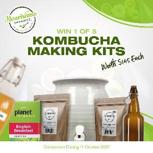 5 Winners will win a Complete Kombucha Kit valued at $145 each !