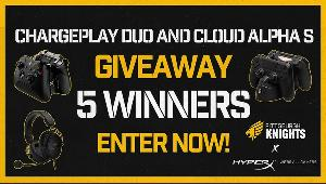 5 Winners will win a HyperX Cloud Alpha S & 1 PS4/Xbox Chargeplay Duo each!