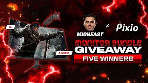 5 Winners will win a Pixio 165Hz Curved Gaming Monitor & Monitor Arm Stand!!