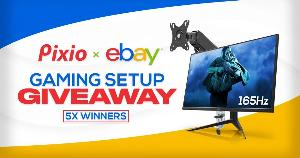 5 WINNERS WILL WIN A Pixio 165Hz Gaming Monitor & Monitor Mount each!!