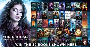 50 Urban Fantasy, Paranormal Romance, and Dystopian Paperbacks or eBooks ($499)