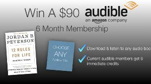6 Month Audible Audio Book Membership Giveaway