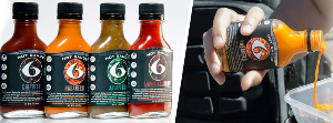 6-pack fitness hot sauce set
