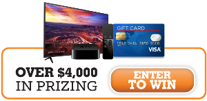 60 inch TV and a 32 GB Apple® TV Giveaway!
